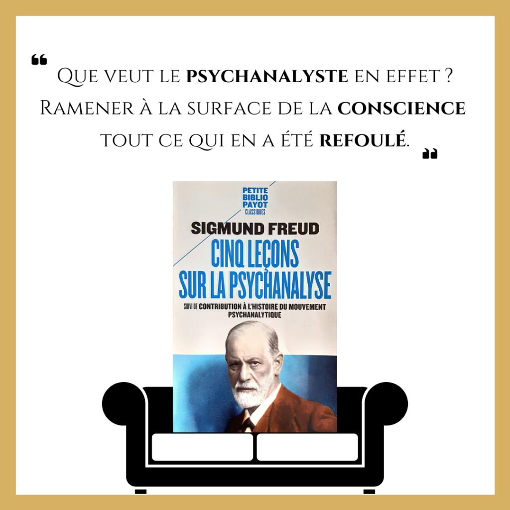 Cinq leçons sur la psychanalyse de Sigmund Freud.
